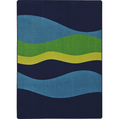 Navy Area Rug Rug Size: 54 x 78