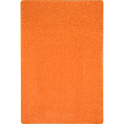 Tangerine Orange Area Rug Rug Size: Rectangle 12 x 8
