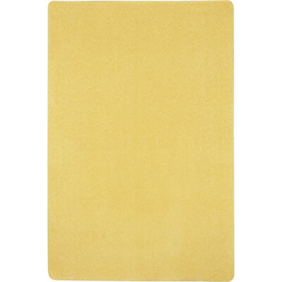 Lemon Yellow Area Rug Rug Size: 4 x 6