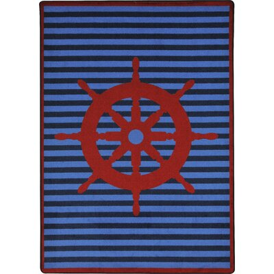 Blue/Red Area Rug Rug Size: Rectangle 78 x 109