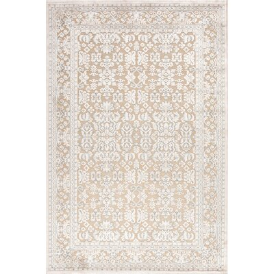 Harting Machine-Woven Hand-Tufted Chenille White/Ivory Area Rug Rug Size: Rectangle 76 x 96