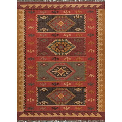 Tyler Hand-Woven Red Area Rug Rug Size: 4 x 6