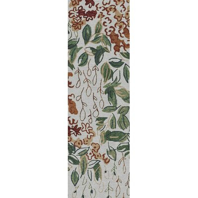 Ivory Indoor/Outdoor Area Rug Rug Size: Runner 26 x 8
