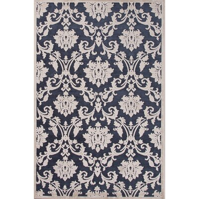 Blue/Cream Area Rug Rug Size: 2 x 3