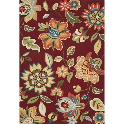 Hand-Tufted Red/Green Area Rug Rug Size: 5 x 76