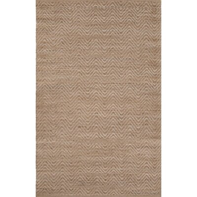 Hand Woven Beige Area Rug Rug Size: Rectangle 26 x 4