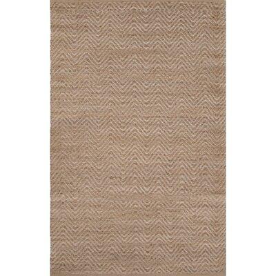 Hand-Woven Beige Area Rug Rug Size: 5' x 8'