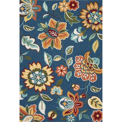 Hand-Tufted Blue/Orange Area Rug Rug Size: Rectangle 5 x 76