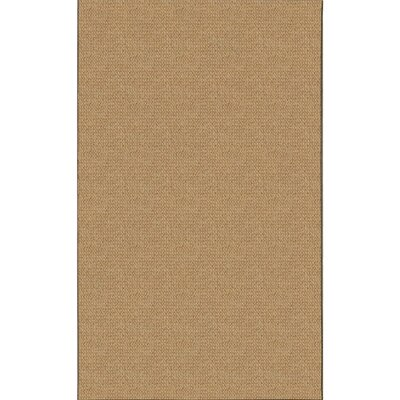 Hand-Tufted Brown Area Rug Rug Size: Rectangle 110 x 210