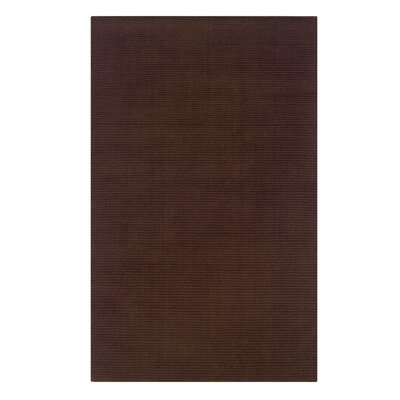 Hand-Woven Brown Area Rug Rug Size: 110 x 210