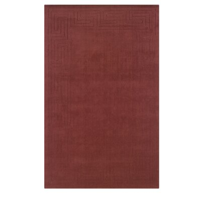 Hand-Woven Red Area Rug Rug Size: Rectangle 5 x 8