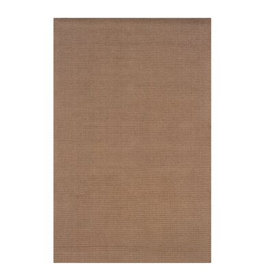 Hand-Woven Brown Area Rug Rug Size: 36 x 56