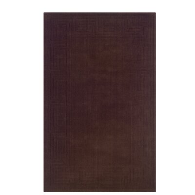 Hand-Woven Brown Area Rug Rug Size: Rectangle 36 x 56
