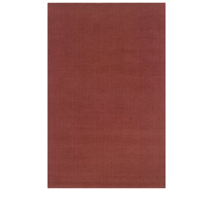 Hand-Woven Red Area Rug Rug Size: Rectangle 8 x 101
