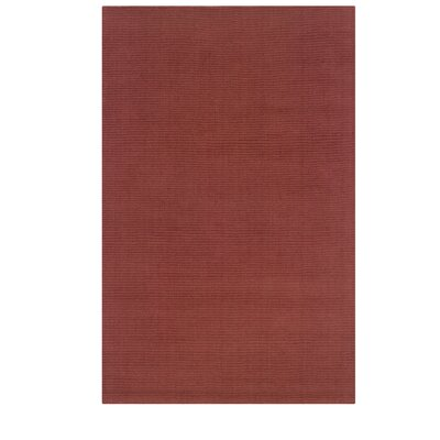 Hand-Woven Red Area Rug Rug Size: 36 x 56