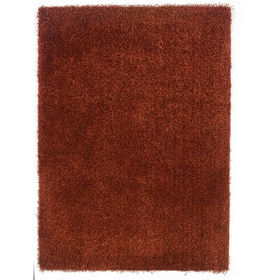 Hand-Tufted Red Area Rug Rug Size: Rectangle 1'10