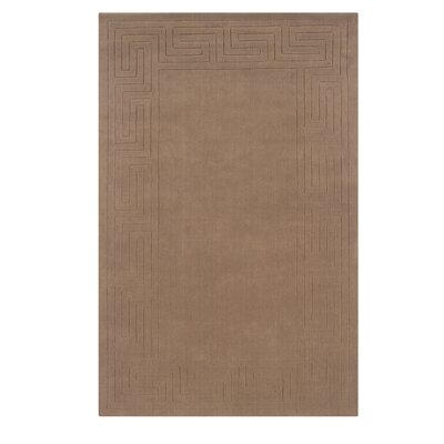 Hand-Woven Beige Area Rug Rug Size: Rectangle 110 x 210
