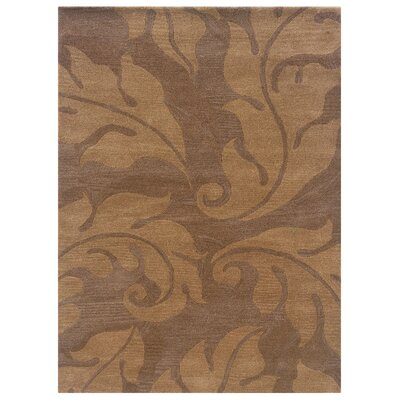 Hand-Tufted Beige/Gold Area Rug Rug Size: 110 x 210