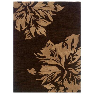 Hand-Tufted Chocolate/Sand Area Rug Rug Size: 110 x 210