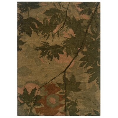 Hand-Tufted Olive/Forest Green Area Rug Rug Size: 110 x 210