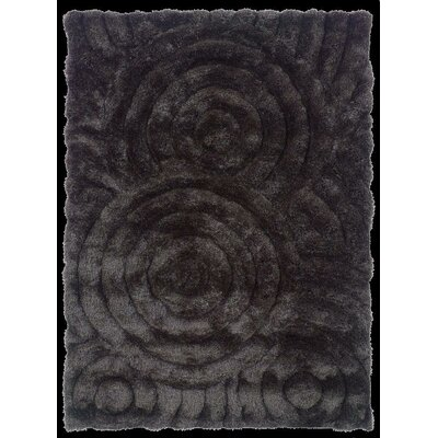 Hand-Tufted Charcoal Area Rug Rug Size: 5 x 7