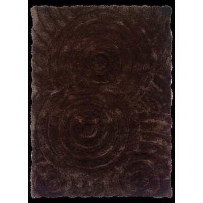 Hand-Tufted Chocolate Area Rug Rug Size: 8 x 10