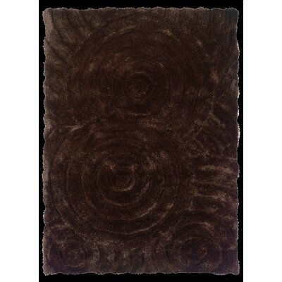 Hand-Tufted Chocolate Area Rug Rug Size: 110 x 210