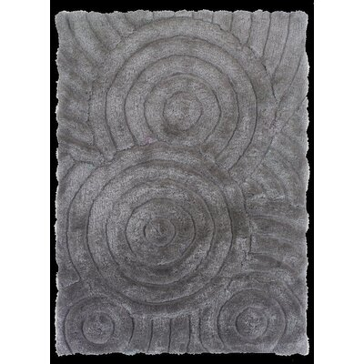 Hand-Tufted Gray Area Rug Rug Size: Rectangle 5 x 7