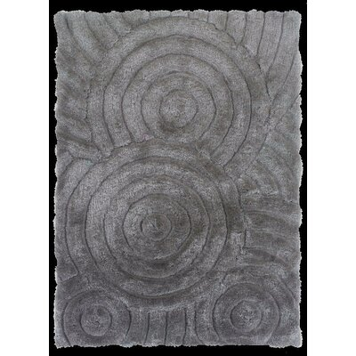 Hand-Tufted Gray Area Rug Rug Size: 8' x 10'