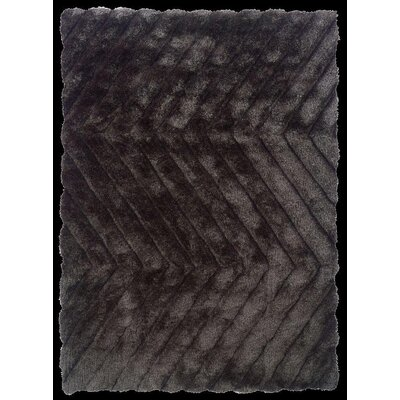 Hand-Tufted Charcoal Area Rug Rug Size: Rectangle 5 x 7