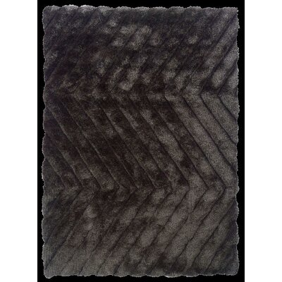 Hand-Tufted Charcoal Area Rug Rug Size: 110 x 210