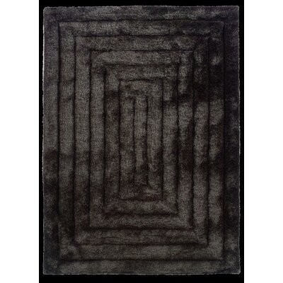 Hand-Tufted Charcoal Area Rug Rug Size: Rectangle 110 x 210