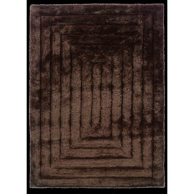 Hand-Tufted Chocolate Area Rug Rug Size: Rectangle 110 x 210