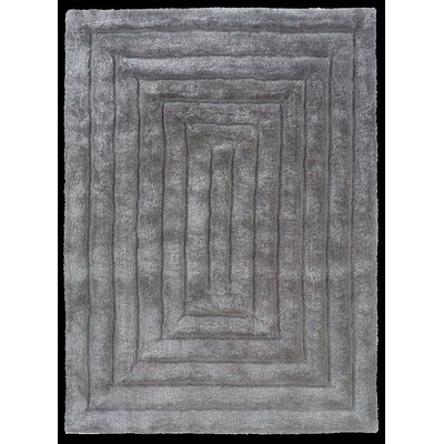 Hand-Tufted Gray Area Rug Rug Size: Rectangle 110 x 210