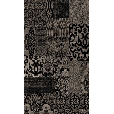 Black Area Rug Rug Size: Rectangle 2' x 3'