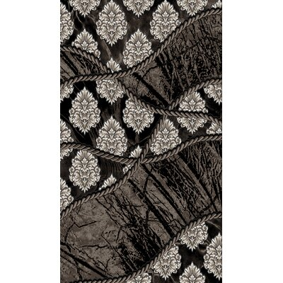 Black Area Rug Rug Size: Rectangle 8 x 104