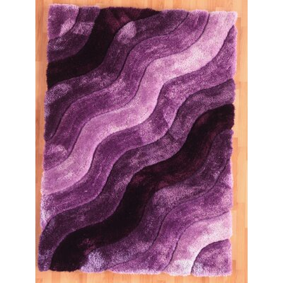 Hand-Tufted Purple Area Rug Rug Size: Rectangle 8 x 10