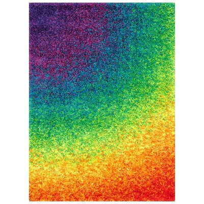 Purple/Green/Orange Indoor/Outdoor Area Rug
