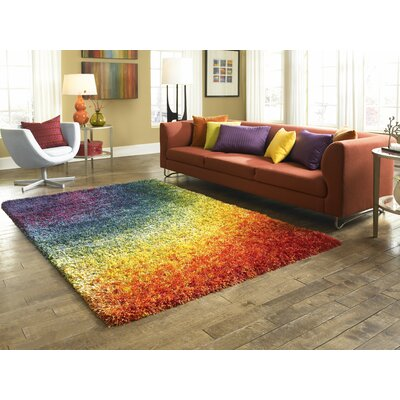 Purple/Green/Orange Indoor/Outdoor Area Rug Rug Size: 39 x 56