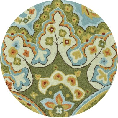 Dreyer Hand-Hooked Green/Blue Area Rug Rug Size: Rectangle 23 x 39