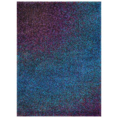 Blue/Purple Area Rug Rug Size: 52 x 77