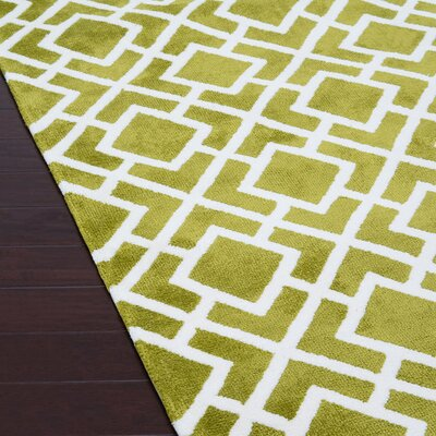 Green Area Rug Rug Size: 93 x 13