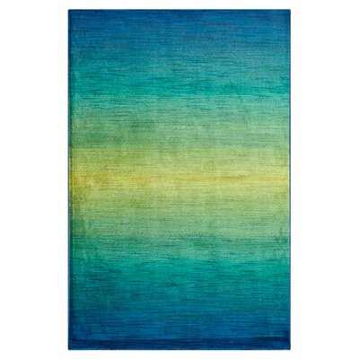 Blue/Green Area Rug Rug Size: 2 x 3