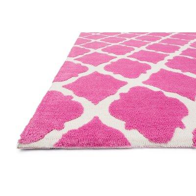 Lattice Play Pink Rug Rug Size: 2' x 3'