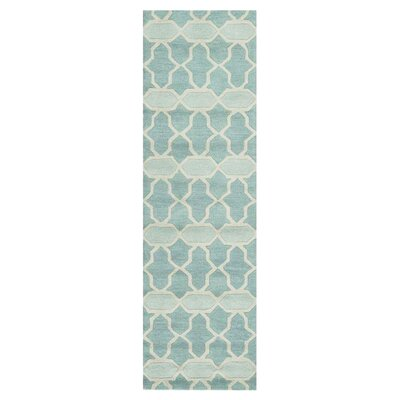 Hand-Tufted Blue Area Rug Rug Size: Runner 23 x 76