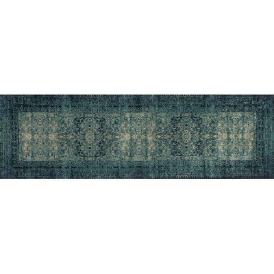 Durdham Park Indigo/Blue Area Rug Rug Size: Runner 24 x 79