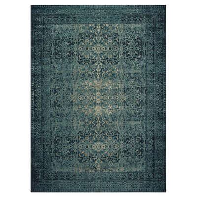 Indigo/Blue Area Rug Rug Size: Rectangle 33 x 53