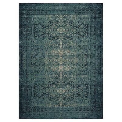 Indigo/Blue Area Rug Rug Size: Rectangle 76 x 105