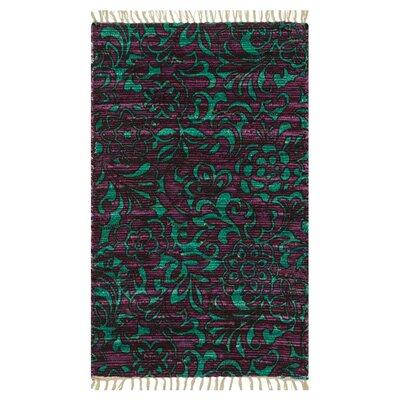 Purple/Turquoise Area Rug Rug Size: 23 x 39