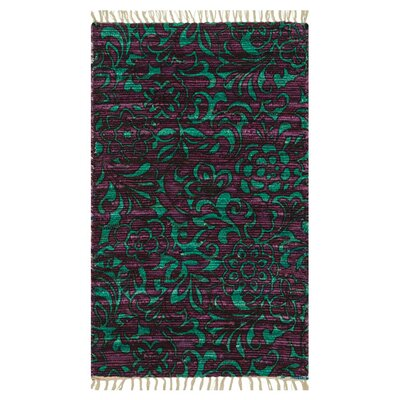 Purple/Turquoise Area Rug Rug Size: 36 x 56